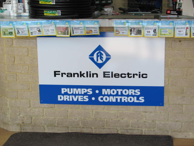 Dealer Signage Franklin Electric Australia